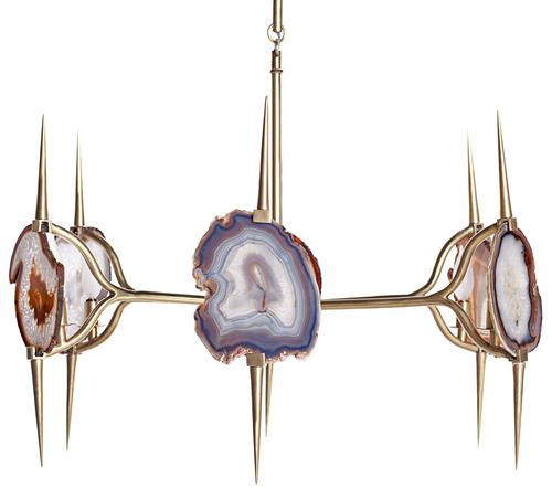 Agate Chandelier Br Home Decor Gemstones
